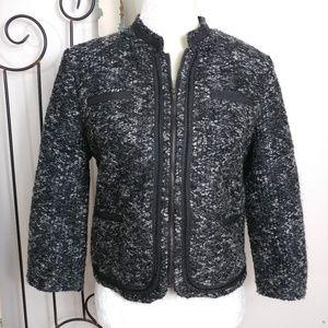 A. Giannetti black gray zipper jacket medium